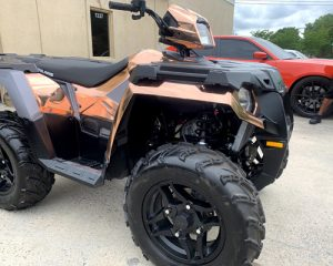 rigth side of all terrain vehicle