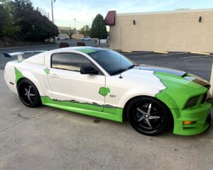 Custom Green Hornet with custom car decals