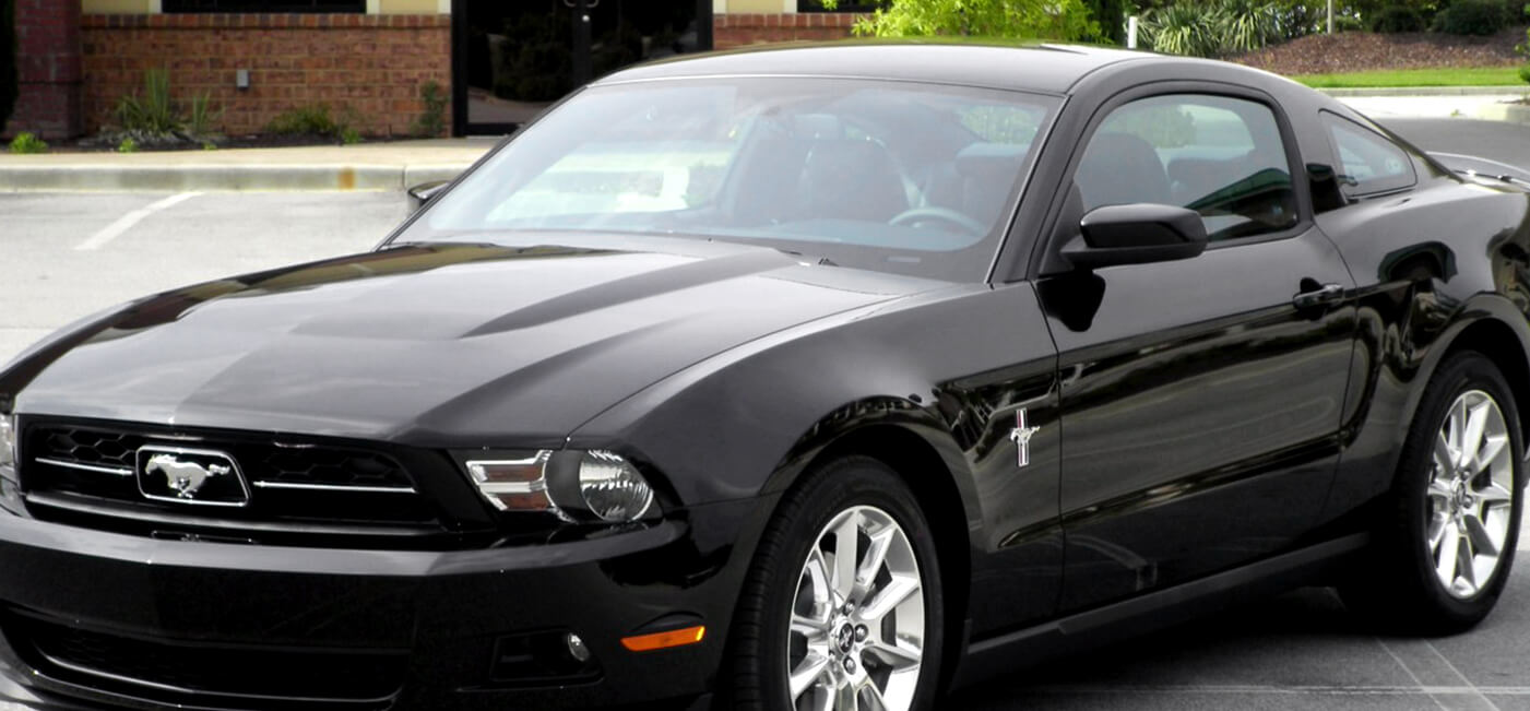 black ford mustang with 20% paint protection